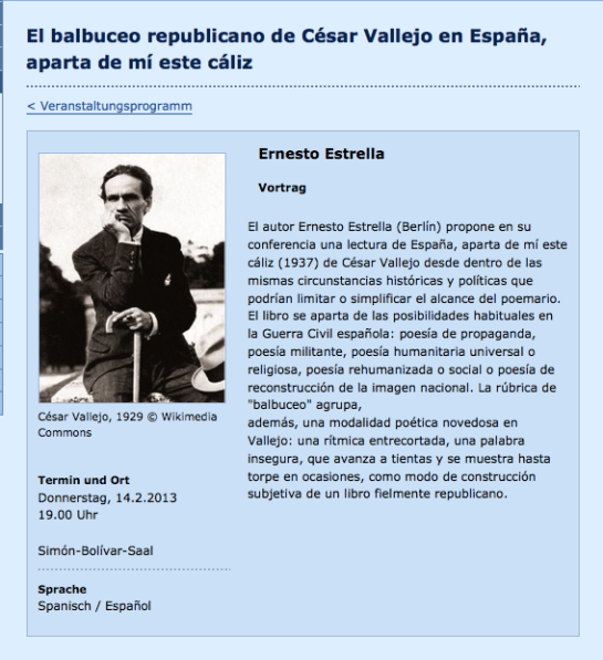 E. Estrella - César Vallejo