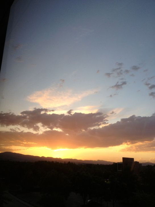 Sunset Rocky Mountains